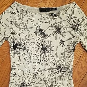 The Limited Tops - FINAL PRICE!! Black & white floral top